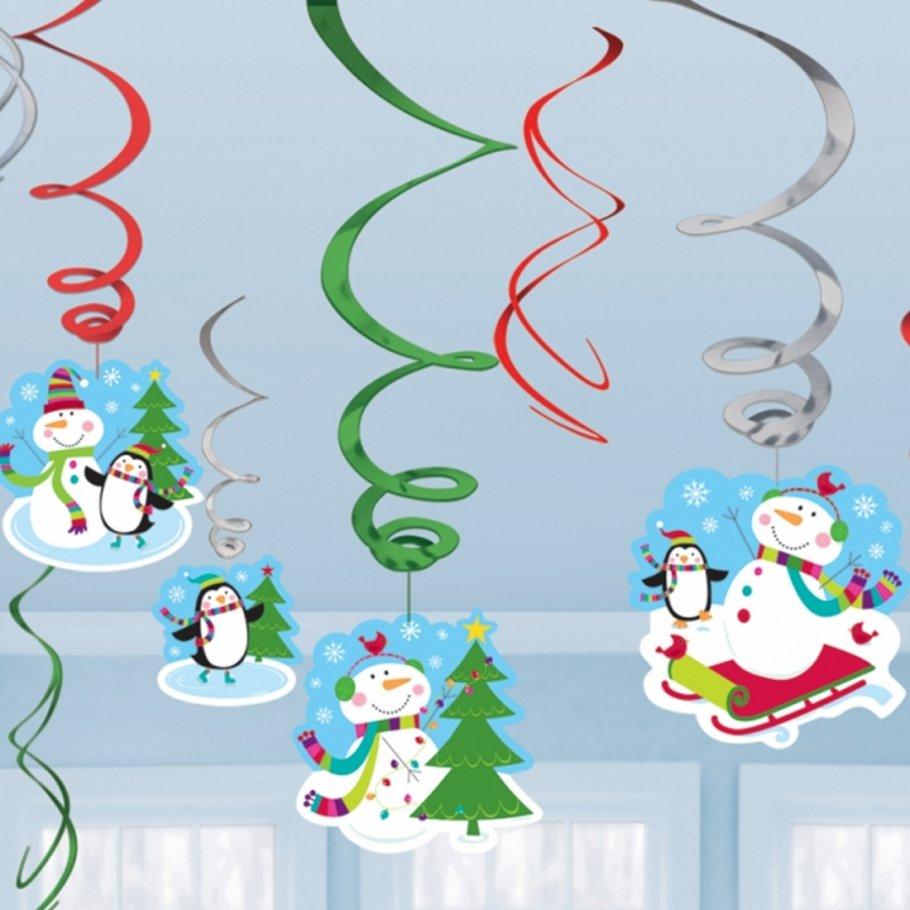 12 stk weihnachten h nge deko winter girlande weihnachtsgirlande schneemann h ngedeko spirale. Black Bedroom Furniture Sets. Home Design Ideas