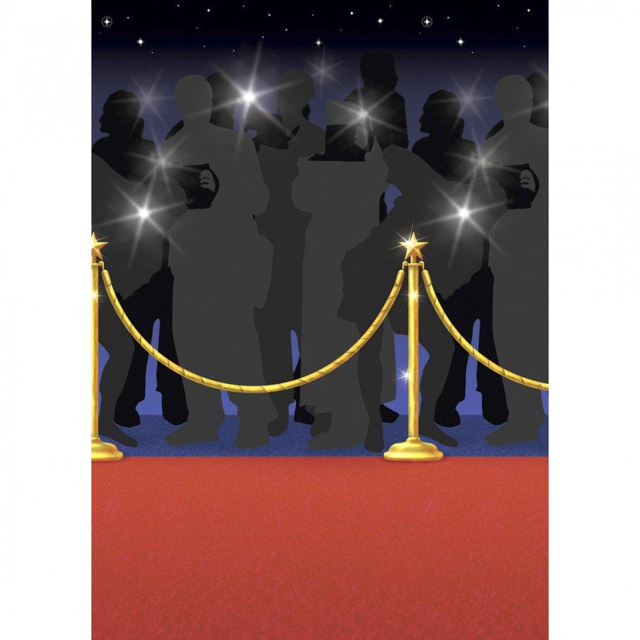 15 m wand deko folie roter teppich hollywood wandbild red. Black Bedroom Furniture Sets. Home Design Ideas