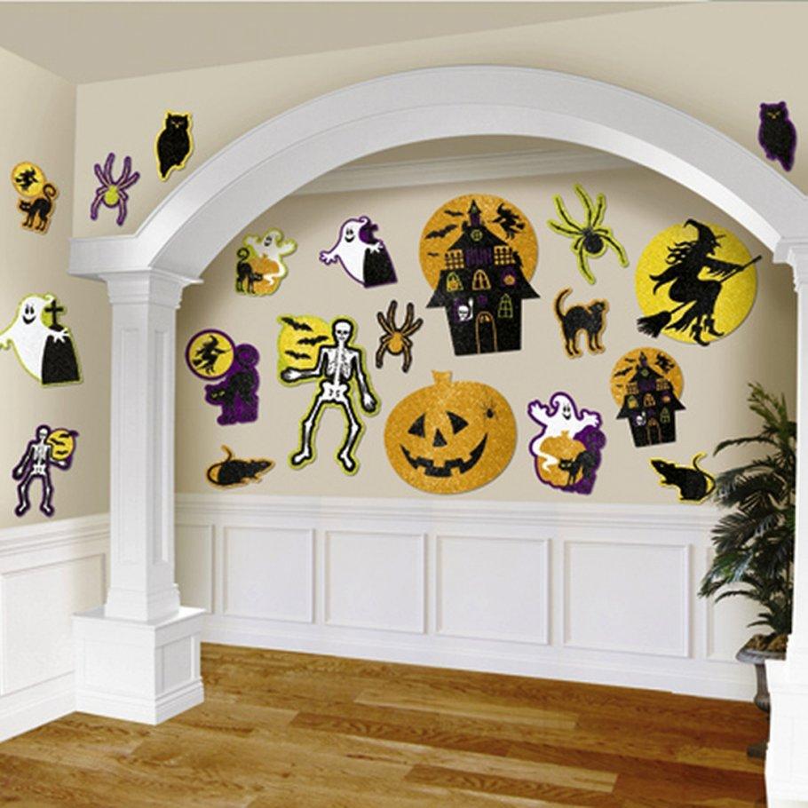 20 halloween deko schilder wanddekoration 13 cm 18 cm 29. Black Bedroom Furniture Sets. Home Design Ideas