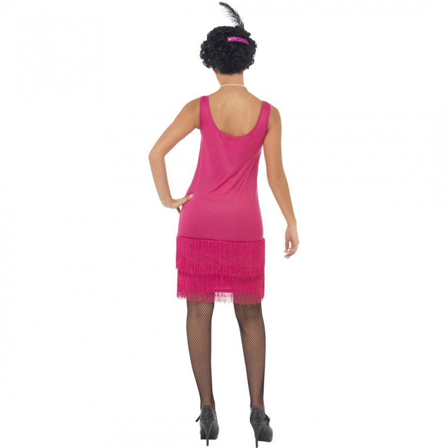 20er jahre charleston kost m flapper kleid pink. Black Bedroom Furniture Sets. Home Design Ideas