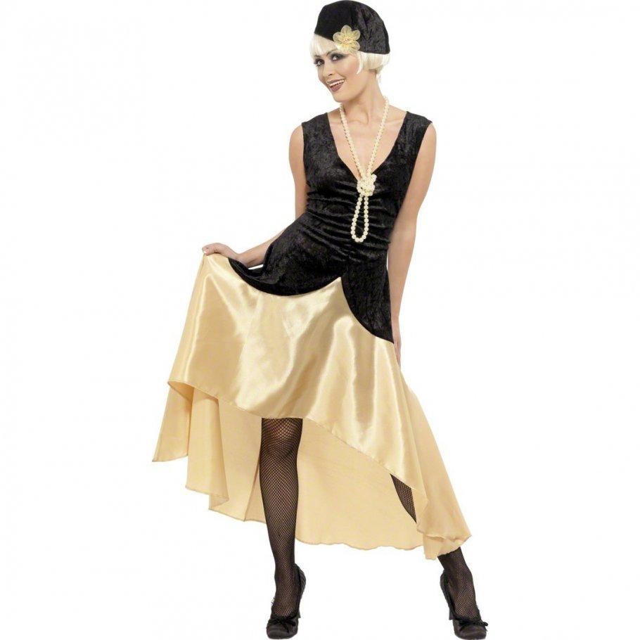Kleid gold 70er