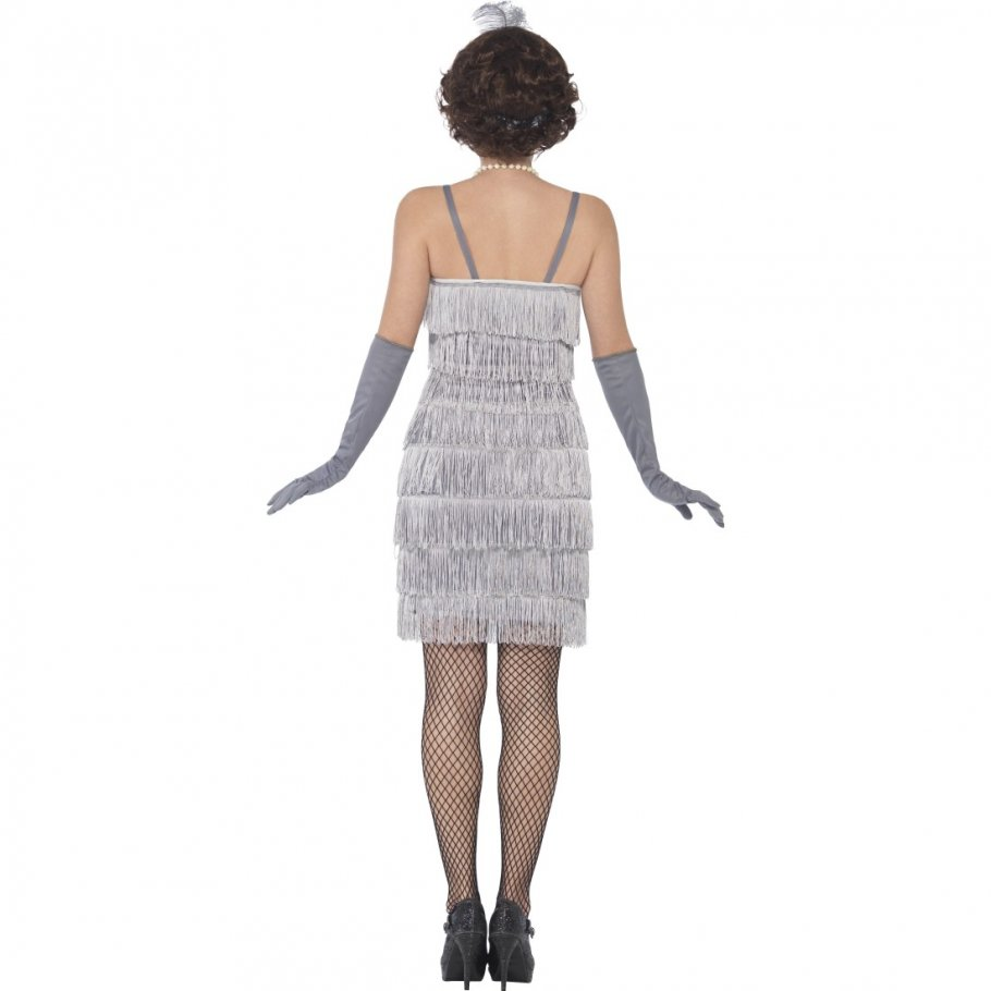 20er jahre kleid silber charleston kost m 27 99. Black Bedroom Furniture Sets. Home Design Ideas
