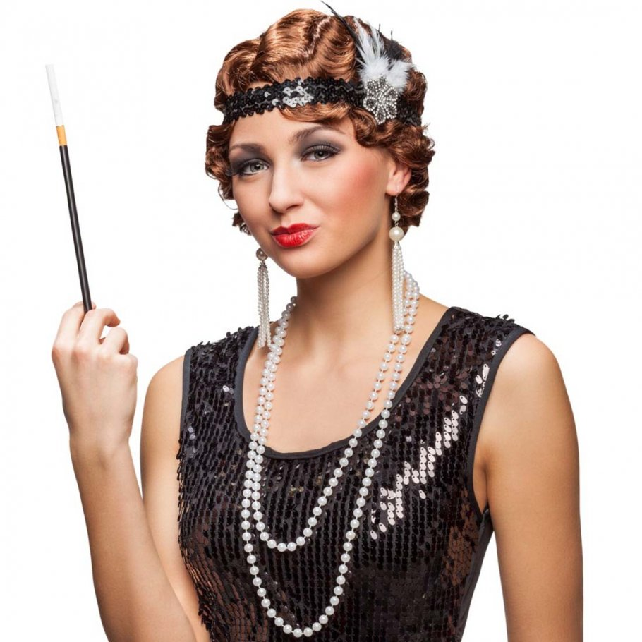 20er jahre kostüm set charleston stirnband, kette