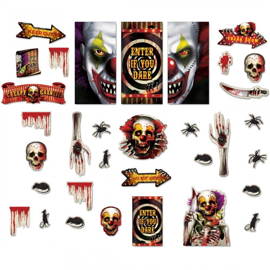 33 tlg halloween haus deko set halloweenparty t rdeko horror fensterdeko grusel artikel. Black Bedroom Furniture Sets. Home Design Ideas