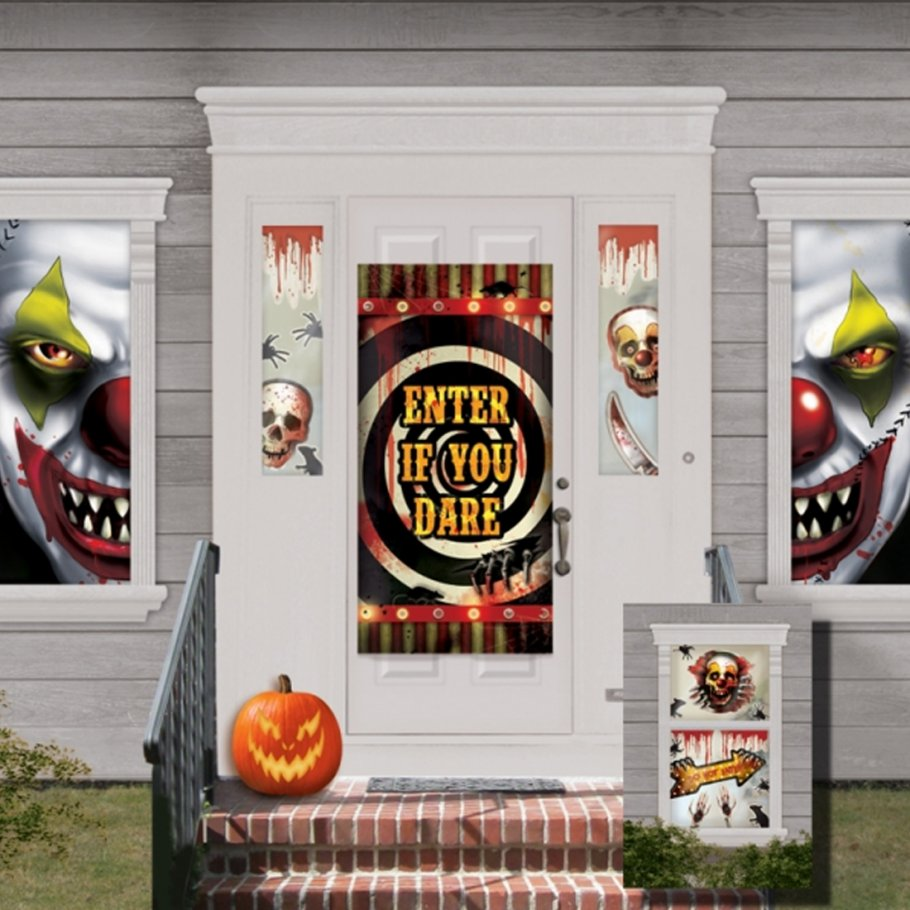 33 tlg halloween haus deko set halloweenparty t rdeko horror fensterdeko grusel artikel. Black Bedroom Furniture Sets. Home Design Ideas