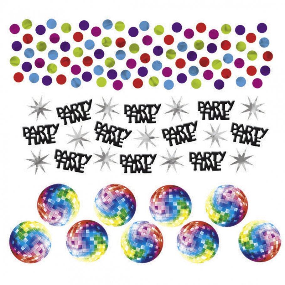 34g deko konfetti 70er jahre hippie party tischkonfetti bunte dekokonfetti disco partykonfetti. Black Bedroom Furniture Sets. Home Design Ideas