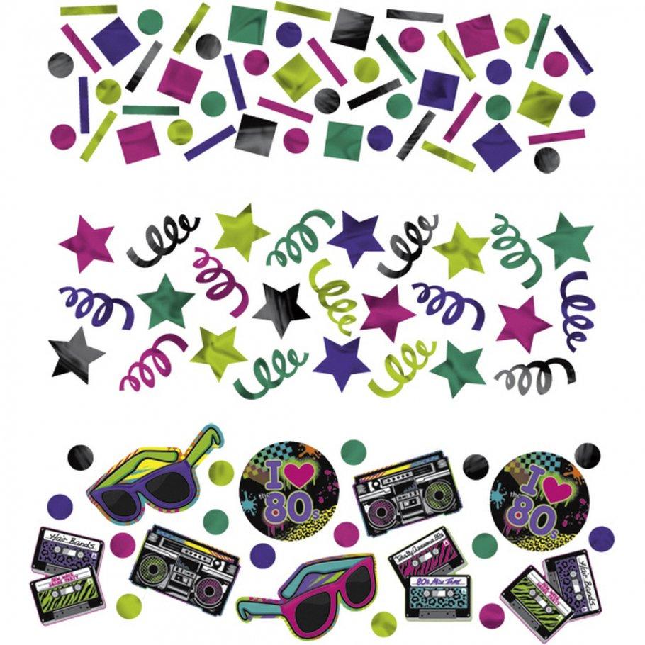 34g deko konfetti 80er jahre party tischkonfetti bunte dekokonfetti disco partykonfetti. Black Bedroom Furniture Sets. Home Design Ideas