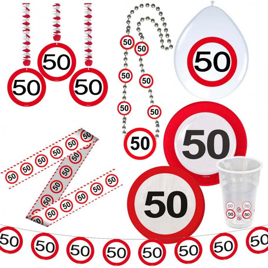 50 geburtstag verkehrsschild party deko erwachsene for Geburtstagsdeko 1 geburtstag