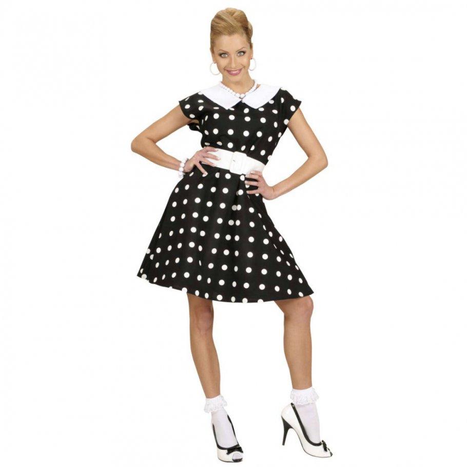 50er jahre petticoat kleid rockabilly damenkost m schwarz. Black Bedroom Furniture Sets. Home Design Ideas