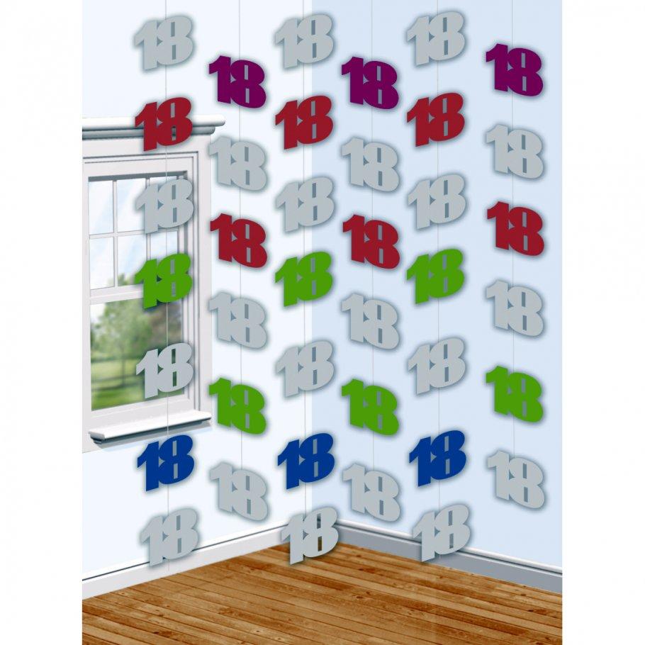 6 x 2 m geburtstagsgirlande 18 geburtstag h nge deko girlande geburtstagsparty deckenh nger. Black Bedroom Furniture Sets. Home Design Ideas