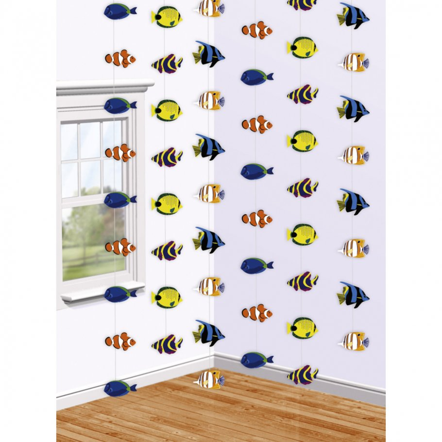 6 Fisch Deko Girlanden Meeres Dekoration 6 X 213 Cm Motiv