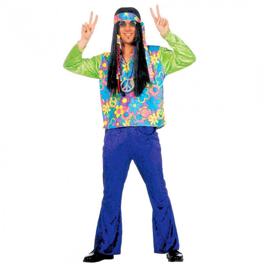 60er jahre hippie kost m flower power hippiekost m gr l. Black Bedroom Furniture Sets. Home Design Ideas