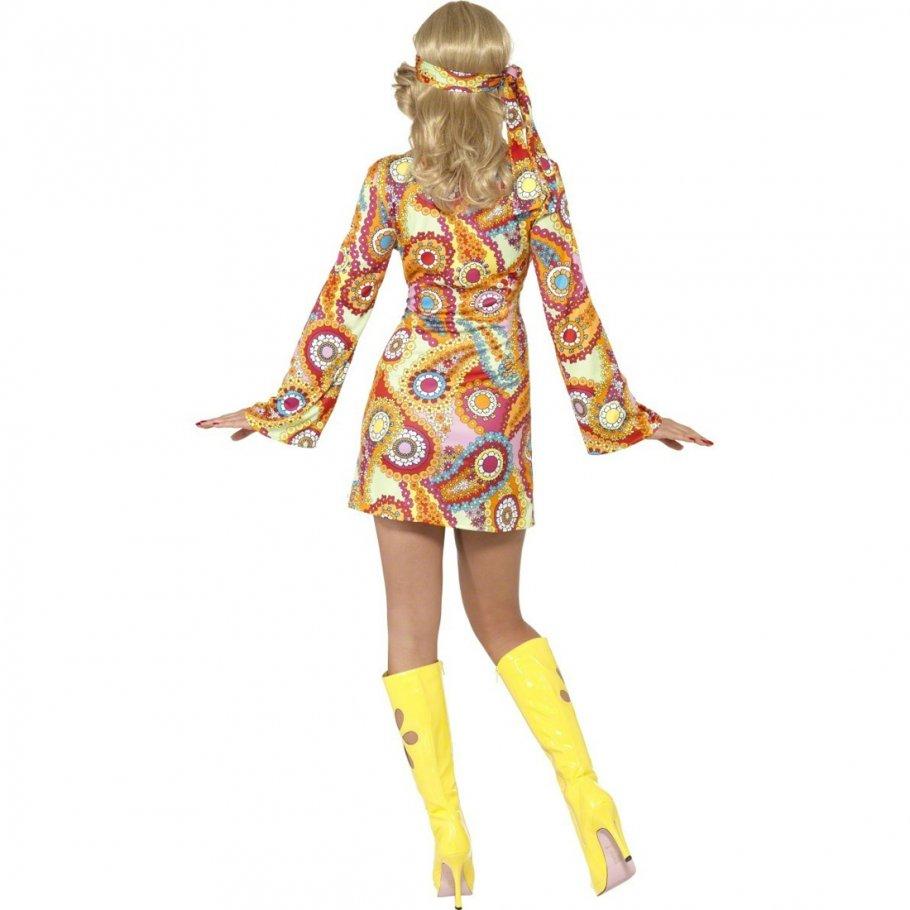 60er jahre kost m hippie bekleidung mehrfarbig l 44 46 flower power kost m abba kost m. Black Bedroom Furniture Sets. Home Design Ideas