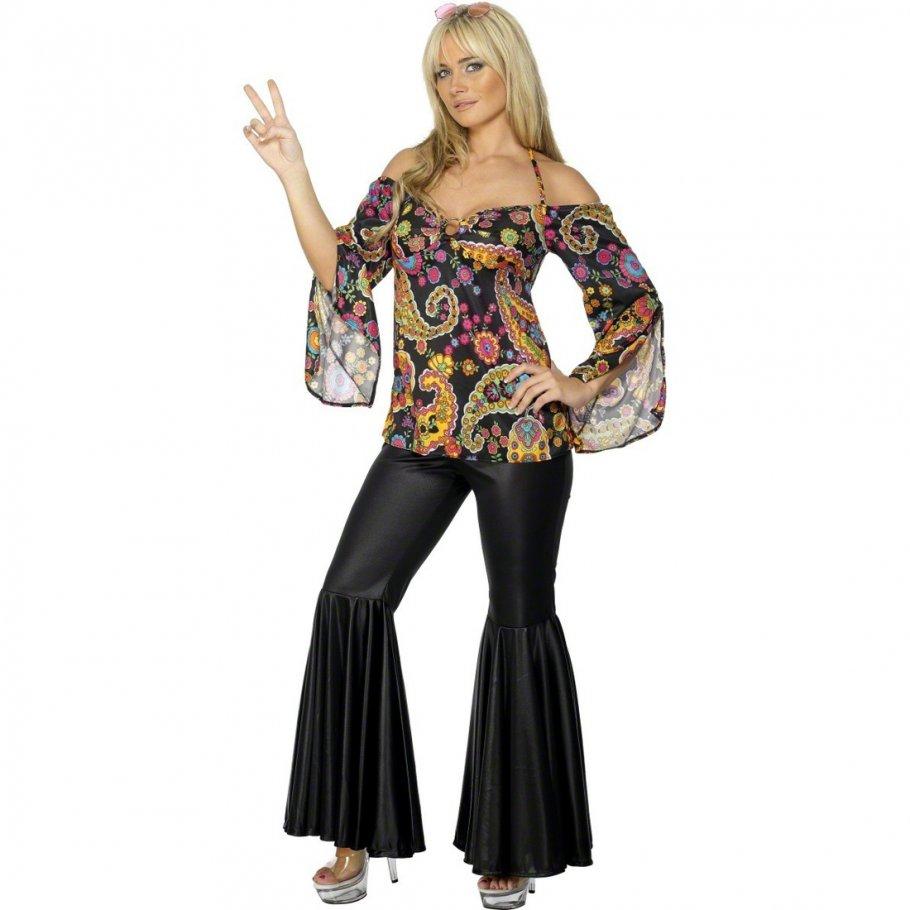 70er jahre hippie kost m damen hippiekost m flower power. Black Bedroom Furniture Sets. Home Design Ideas