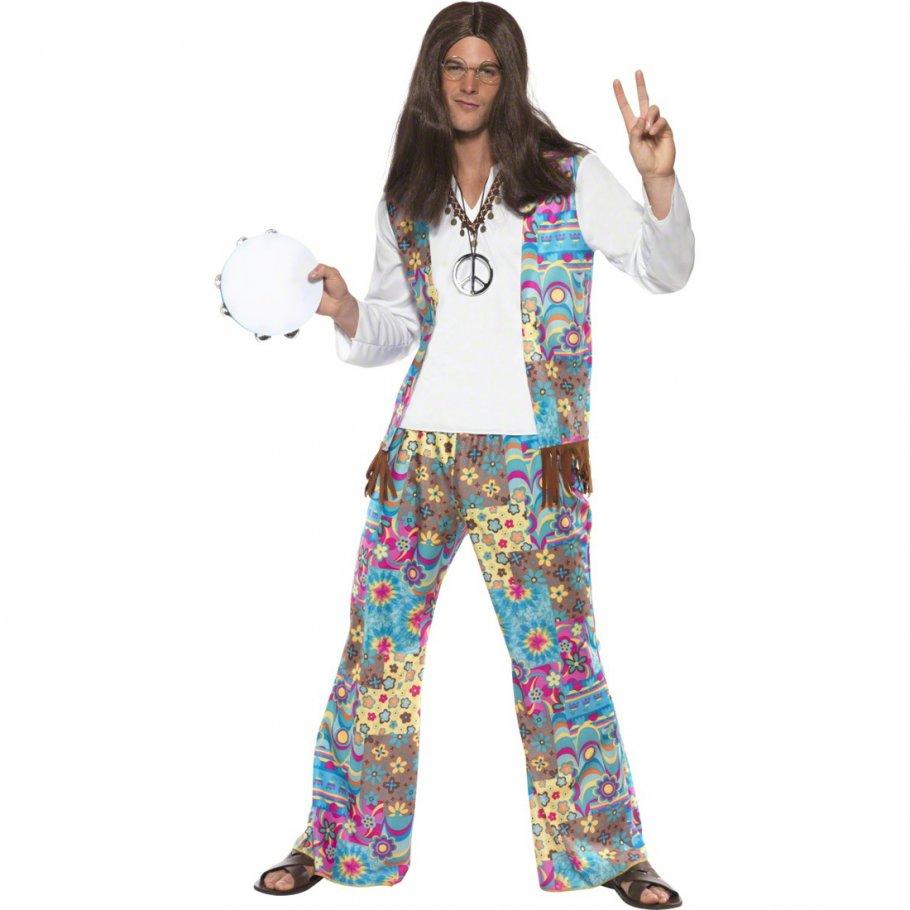70er jahre hippie kost m flower power hippieoutfit hippiekost m herren flowerpower outfit 60er. Black Bedroom Furniture Sets. Home Design Ideas