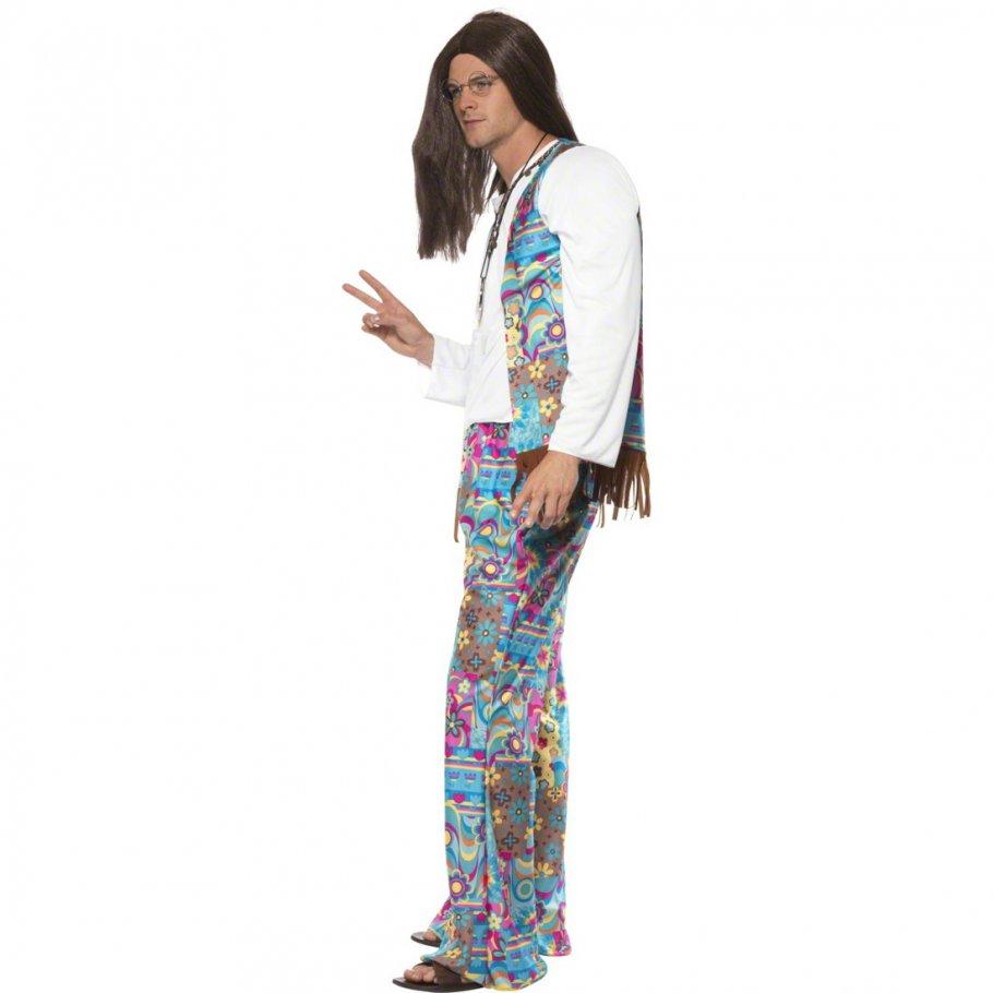 70er jahre hippie kost m flower power hippieoutfit. Black Bedroom Furniture Sets. Home Design Ideas