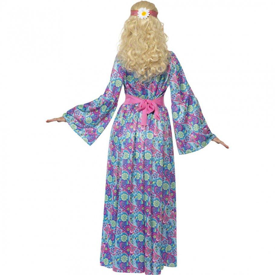 70er jahre kost m damen hippie outfit flower power kleid. Black Bedroom Furniture Sets. Home Design Ideas