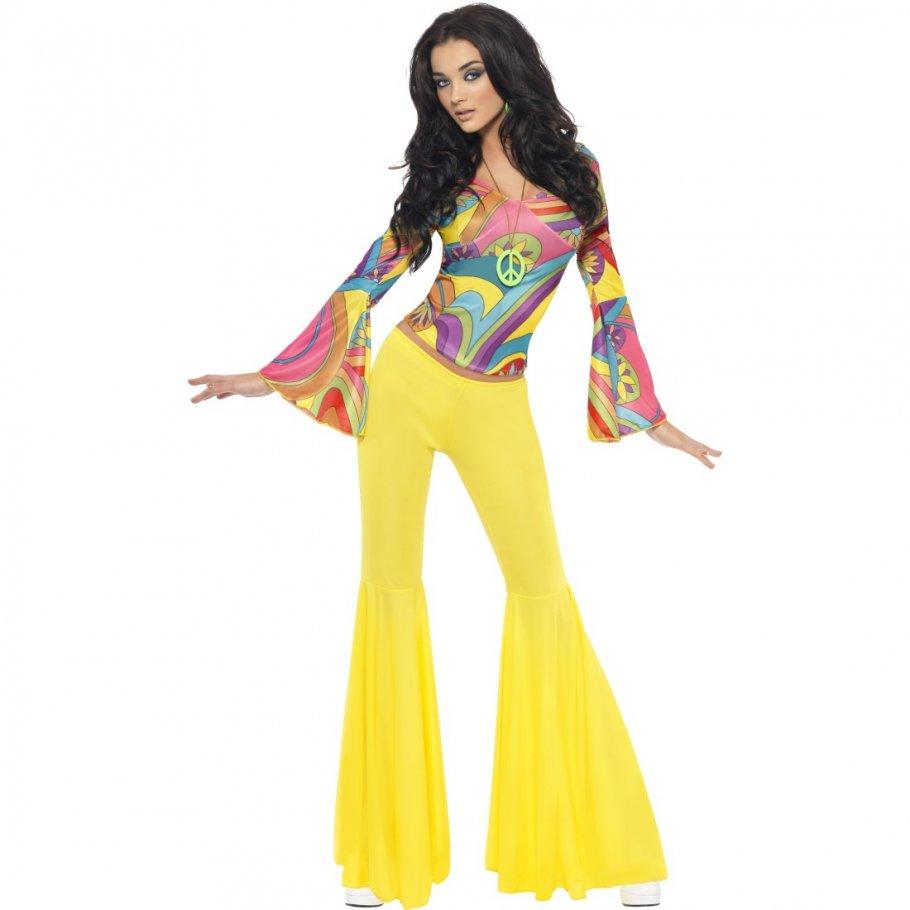 70er jahre outfit damen hippie kost m 60er jahre vintage. Black Bedroom Furniture Sets. Home Design Ideas