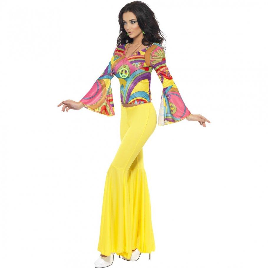 70er jahre outfit damen hippie kost m 60er jahre vintage hippiekost m flower power damenkost m. Black Bedroom Furniture Sets. Home Design Ideas