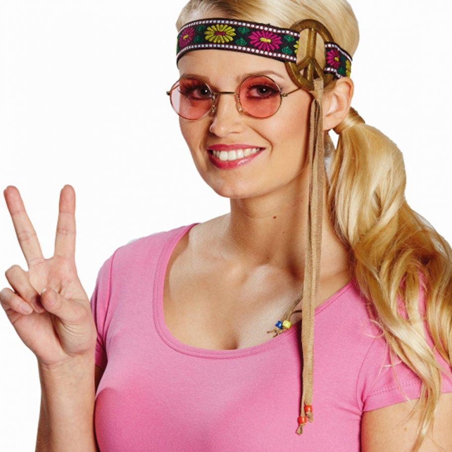 70er jahre stirnband hippie haarband piece kopfband friedenszeichen kopfschmuck 60er jahre. Black Bedroom Furniture Sets. Home Design Ideas
