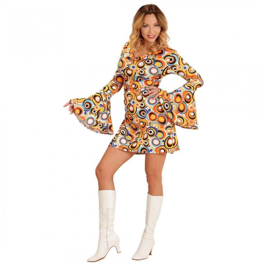 70er jahre hippie kost m flower power kleid 22 99. Black Bedroom Furniture Sets. Home Design Ideas