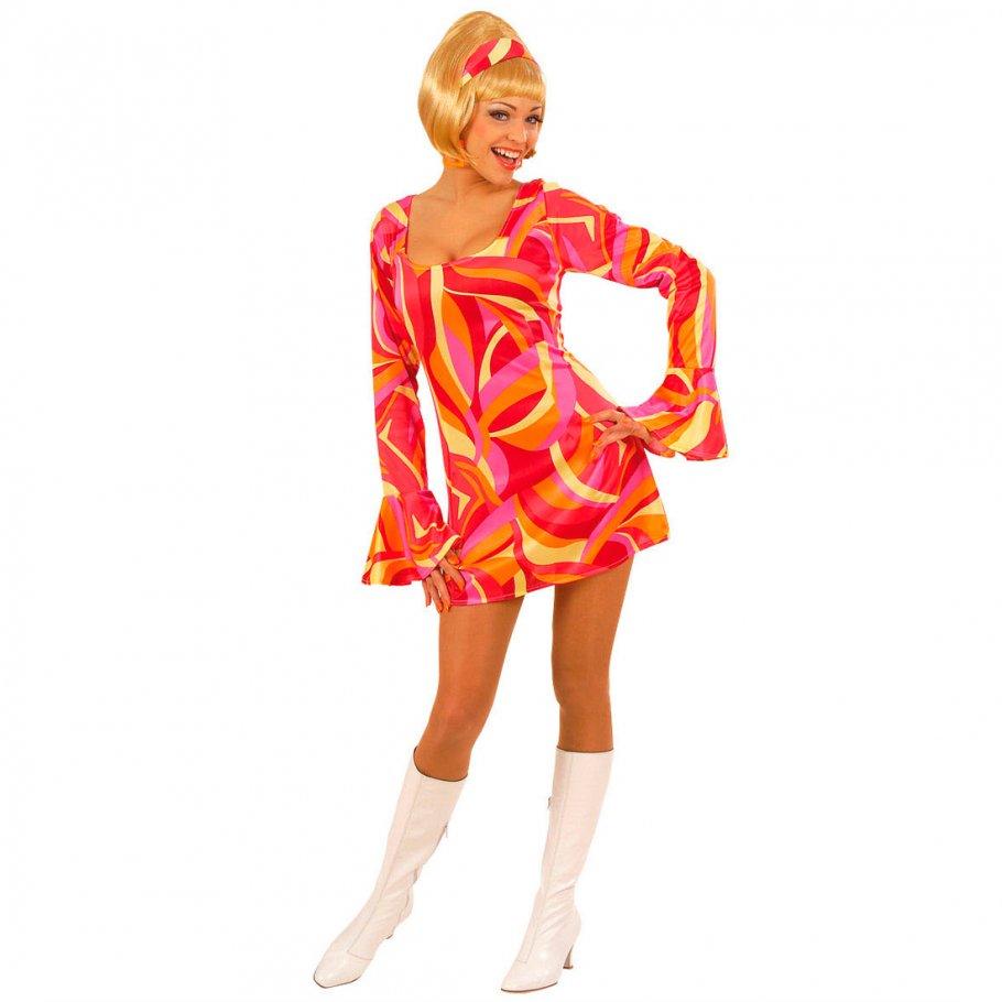 70er Jahre Partykleid - orange Cocktailkleid kurz Gr S, 22,99 €