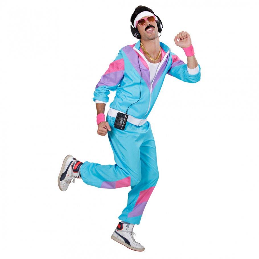 80er Jahre Sport Kostüm Proll Trainingsanzug L 50/52, 29,99