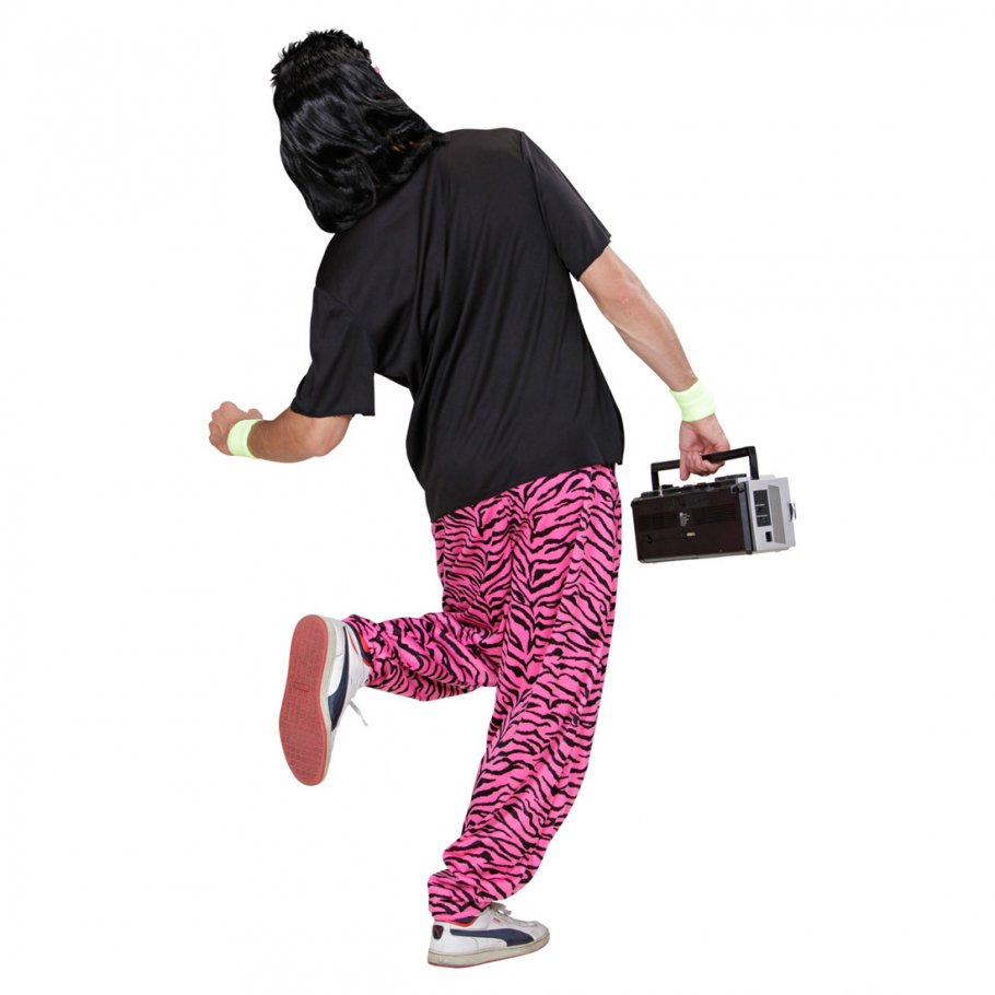 80er jahre trainingshose pink zebra jogginghose 12 99. Black Bedroom Furniture Sets. Home Design Ideas
