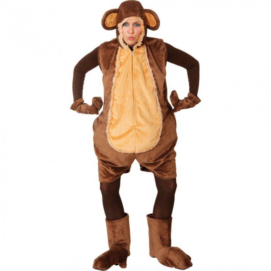 Affen Kostüm Für Damen Tierkostüm Fastnacht 4399