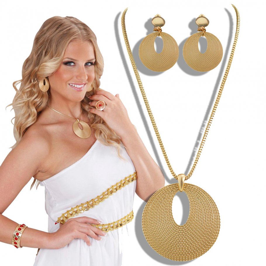 Modeschmuck gold set  Modeschmuck & Karneval Schmuck & Faschingsschmuck kaufen
