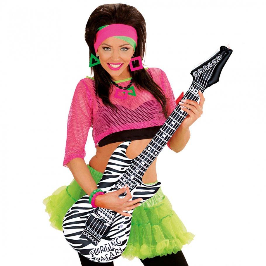aufblasbare gitarre deko luftgitarre zebra rocker. Black Bedroom Furniture Sets. Home Design Ideas