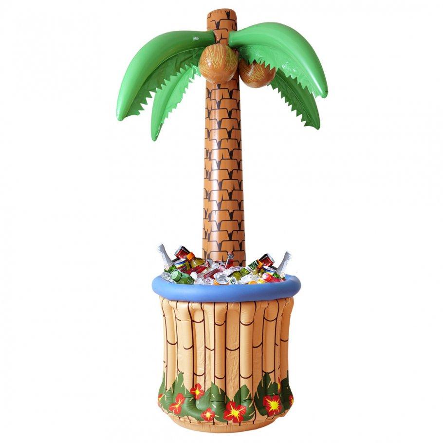 Hawaii Deko aufblasbare palme mit getränkekühler partypalme 182 cm palmeninsel palme flaschenkühler