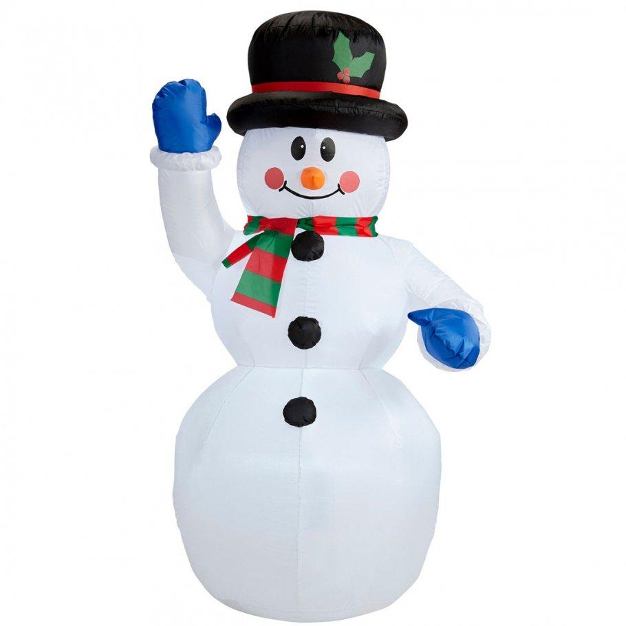 aufblasbarer schneemann beleuchtet weihnachtsdeko au en 150 cm. Black Bedroom Furniture Sets. Home Design Ideas