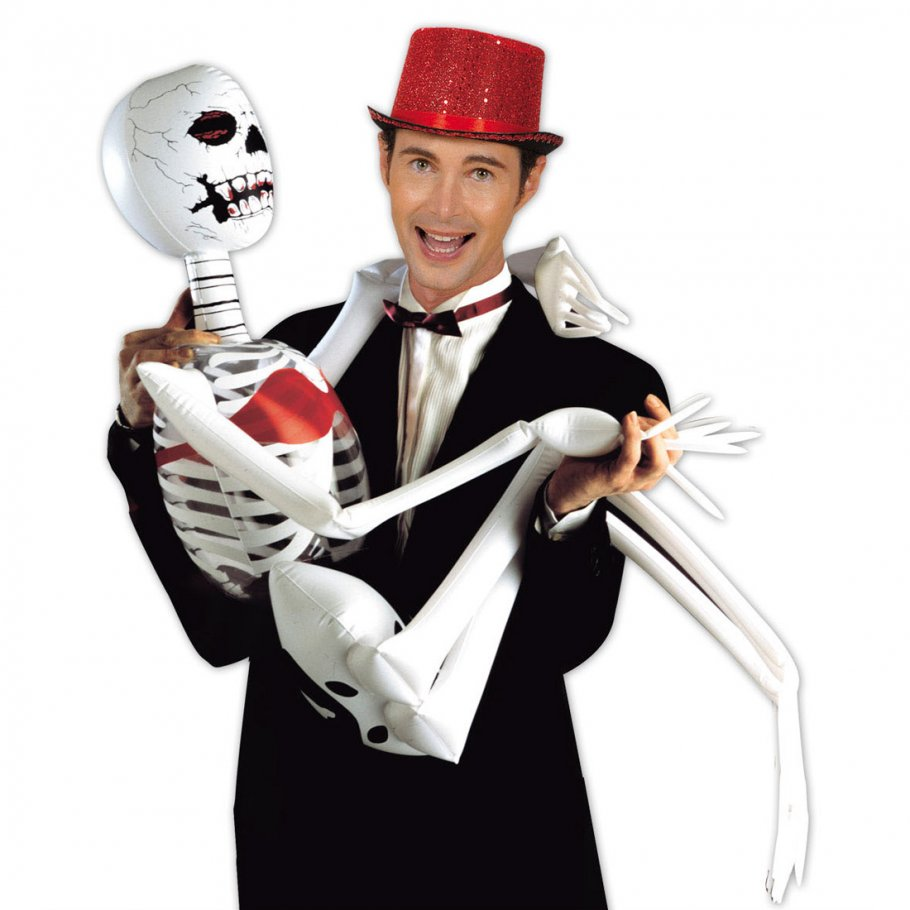 Das Halloween Skelett könnte der Blickfang Ihrer Grusel Deko werden