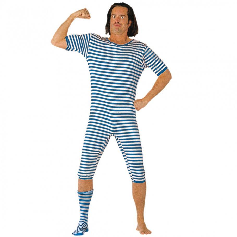 badeanzug gestreift 20er jahre blau wei garngef rbt 22 99. Black Bedroom Furniture Sets. Home Design Ideas