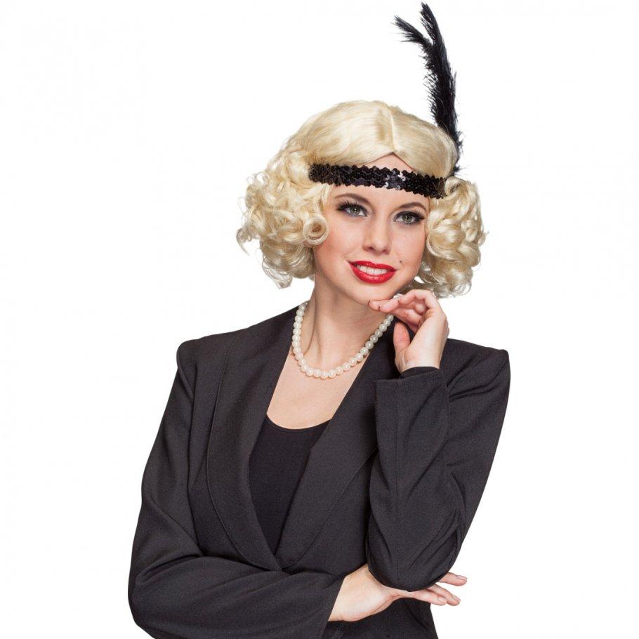 blonde charleston per cke 20er jahre lockenper cke mit haar. Black Bedroom Furniture Sets. Home Design Ideas