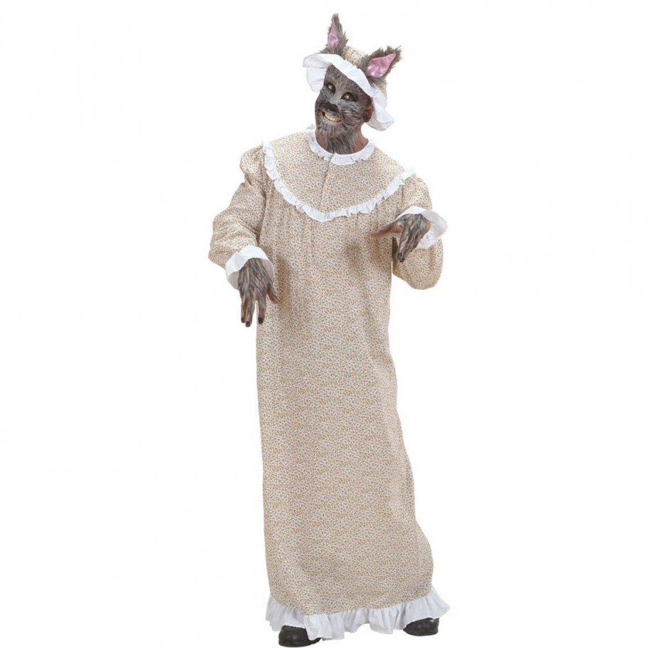 Böser Wolf Kostüm Rotkäppchen Omakostüm Großmutter Wolfskostüm Oma ...