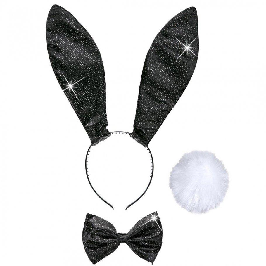bunny set hasen kost m 3 tlg hase ohren fliege schwanz sexy hasenkost m playboy kost mset. Black Bedroom Furniture Sets. Home Design Ideas