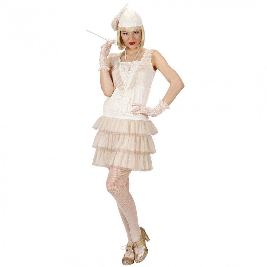 Charleston Kostüm 20er Jahre Kleid Charlestonkleid weiß 30er Jahre ...