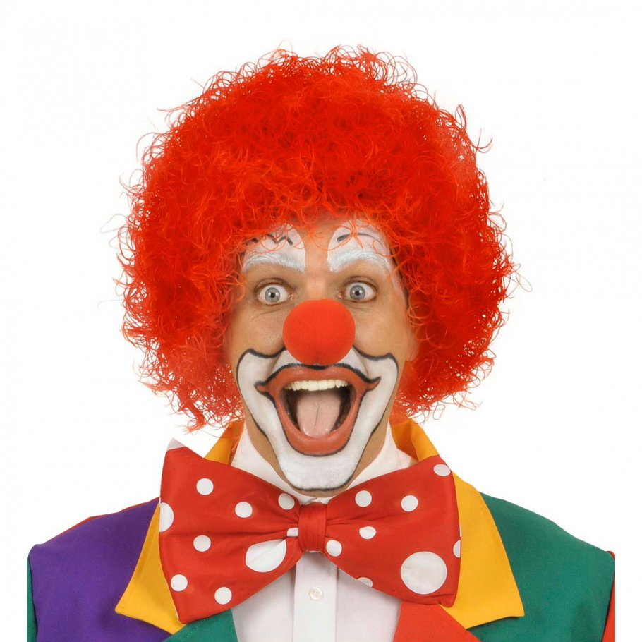 Clown afro haare harlekin per cke rot afroper cke klown for Clown schminken bilder