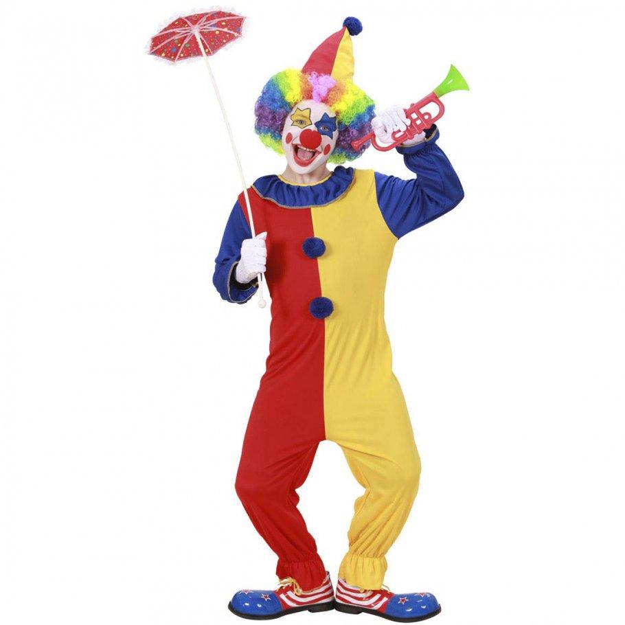 clown kost m kinder clownkost m 158 cm 11 13 jahre clownskost m jumpsuit harlekin. Black Bedroom Furniture Sets. Home Design Ideas