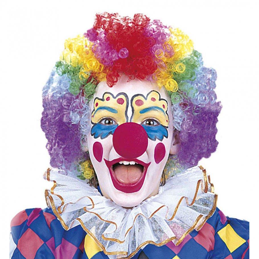 Clown makeup clownschminke mit nase schminke und clownnase for Clown schminken bilder
