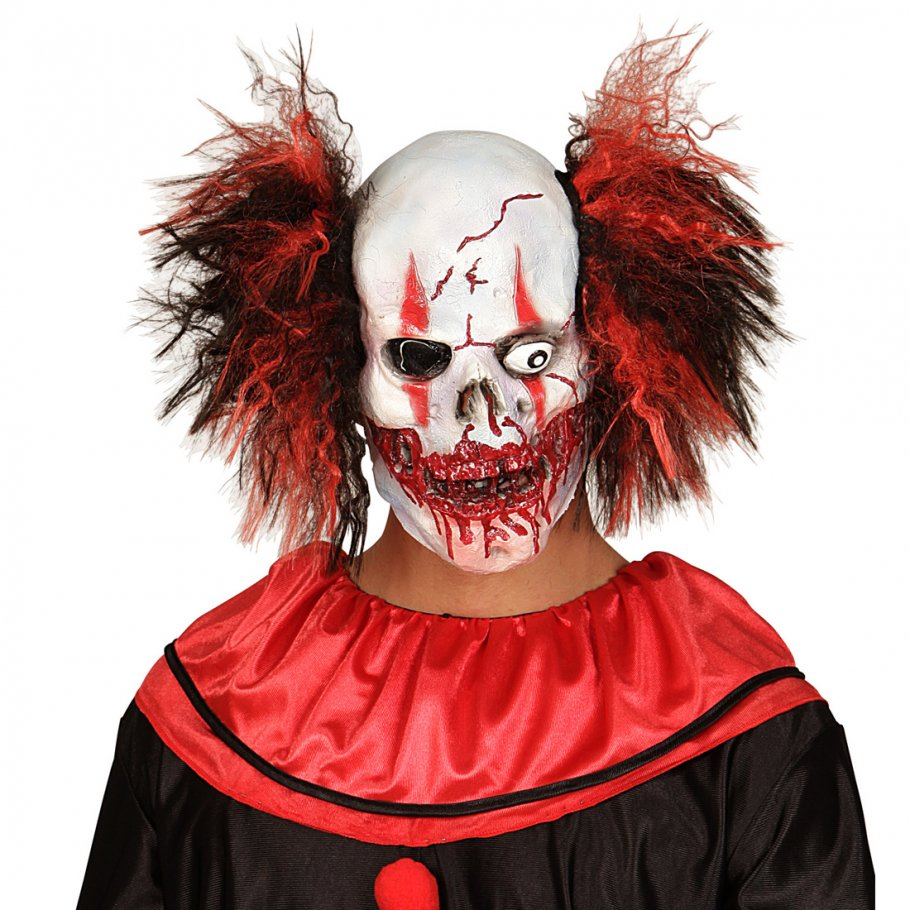 clown maske zombie totenkopfmaske mit haaren horror. Black Bedroom Furniture Sets. Home Design Ideas