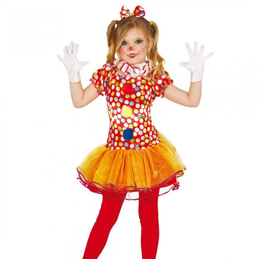 clownskost m m dchen clown kinderkost m 22 95. Black Bedroom Furniture Sets. Home Design Ideas