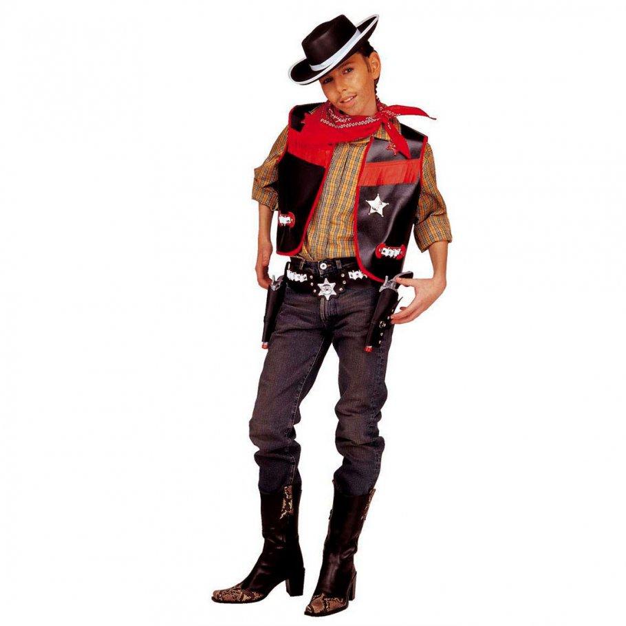 cowboy kost m f r jungen cowboyweste kinderkost m 140 cm 8 10 jahre cowboykost m set kost m. Black Bedroom Furniture Sets. Home Design Ideas