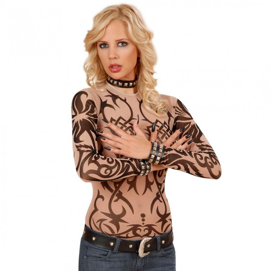 damen tattoo shirt sleeve tribal shirt tattooshirt 13 99. Black Bedroom Furniture Sets. Home Design Ideas