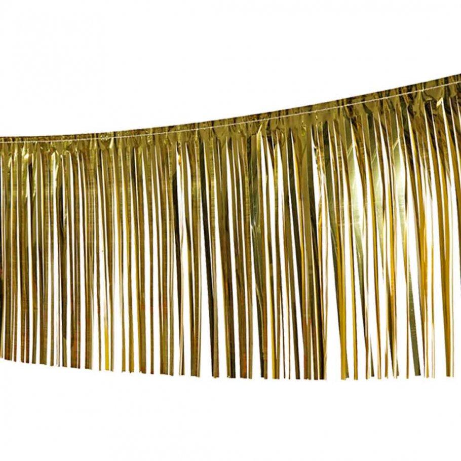 Lametta girlande deko fransengirlande foliengirlande for Deko wohnzimmer gold silber