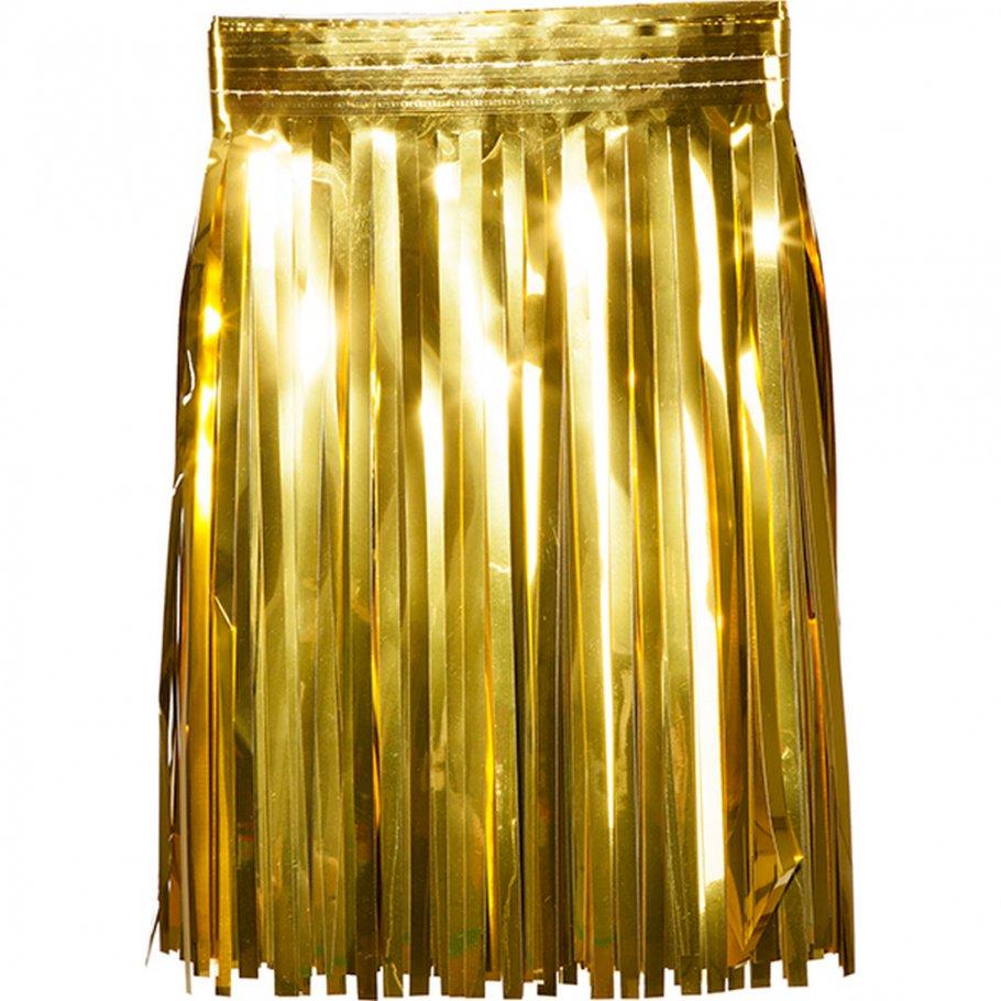 Lametta Girlande Gold Deko Fransengirlande Foliengirlande