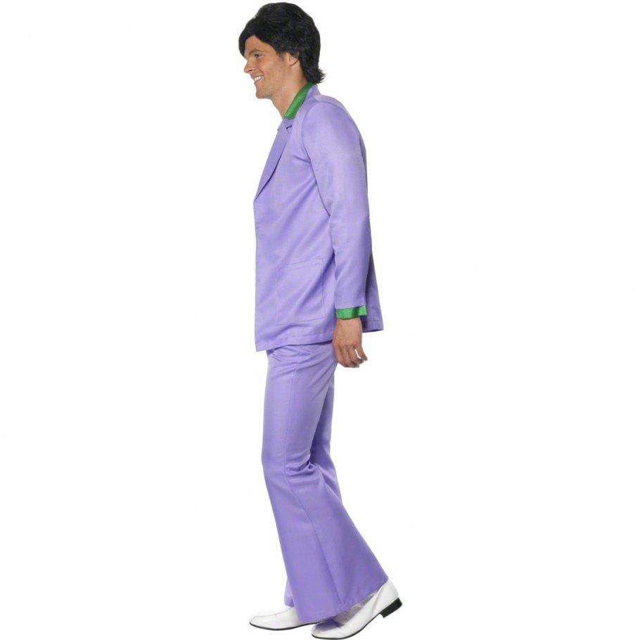 disco kost m herren 70er jahre outfit l 52 54 lila. Black Bedroom Furniture Sets. Home Design Ideas