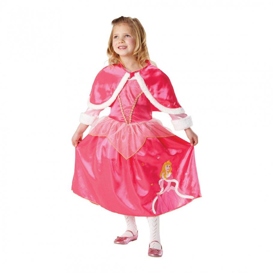 dornr schen kleid prinzessin kinderkost m pink m 5 6 jahre. Black Bedroom Furniture Sets. Home Design Ideas